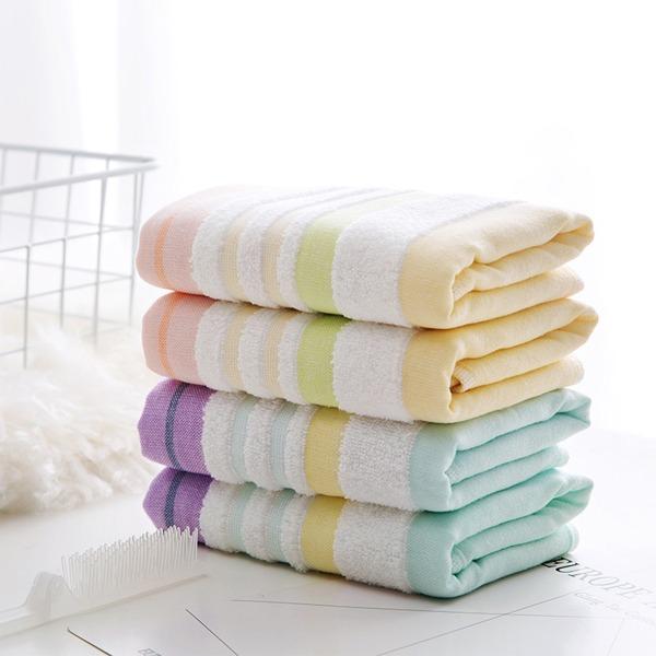 彩虹條紋毛巾 PlayByPlay,玩生活,浴室,毛巾,長絨棉,紗布,柔軟,舒適,蓬鬆,不掉絮,線條,活性印染,堅韌,包邊