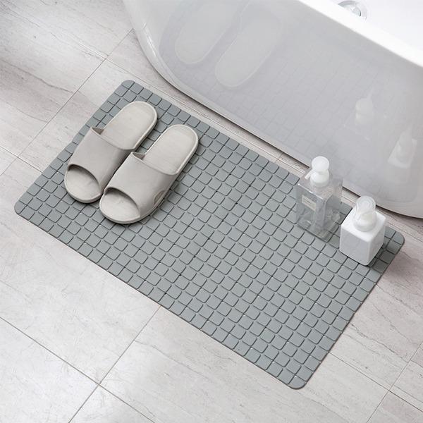 浴室防滑地墊 PlayByPlay,玩生活,浴室,PVC材質,立方格紋路,柔軟,踩踏舒適,吸盤,瀝水孔,防滑,乾爽