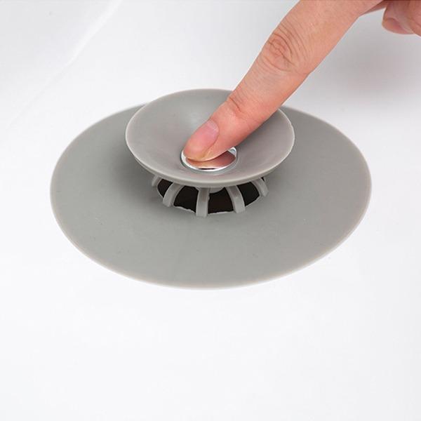 按壓式排水口塞 PlayByPlay,玩生活,居家,浴室,廚房,流理臺,排水口,排水孔,濾器,濾籃,排水塞,TPR,按壓式,過濾,去異味