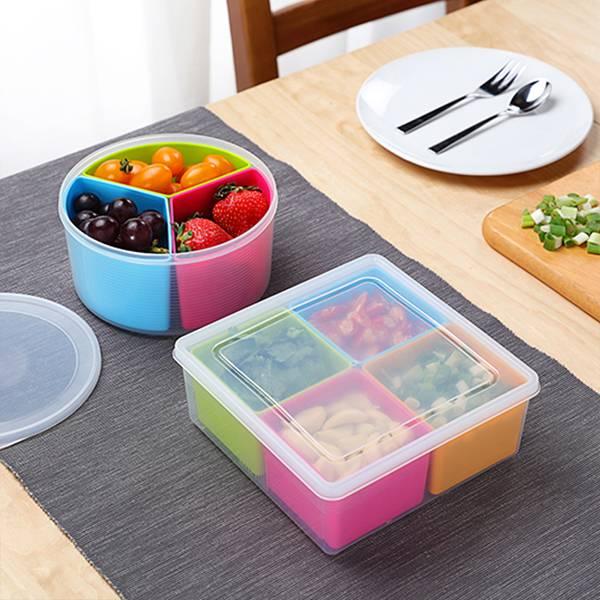 多彩分格密封盒 PlayByPlay,玩生活,居家,廚房,冰箱,保鮮,保鮮盒,繽紛,亮眼,密封,分格設計,不串味,可微波