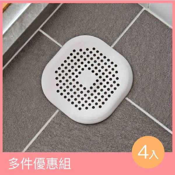 排水口過濾板(4入) PlayByPlay,玩生活,排水口,過濾,板,地漏,浴室,毛髮,堵塞