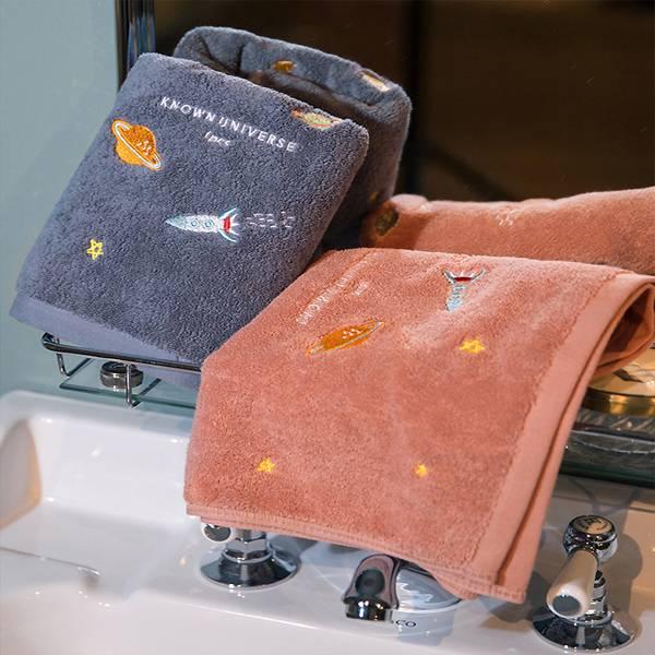 刺繡風純棉毛巾 PlayByPlay,玩生活,居家,浴室,毛巾,刺繡風,可愛活潑,繽紛,純棉混紡,包邊緊實,蓬鬆柔軟,親膚,吸水強,無毒無味,不掉棉絮,多用途