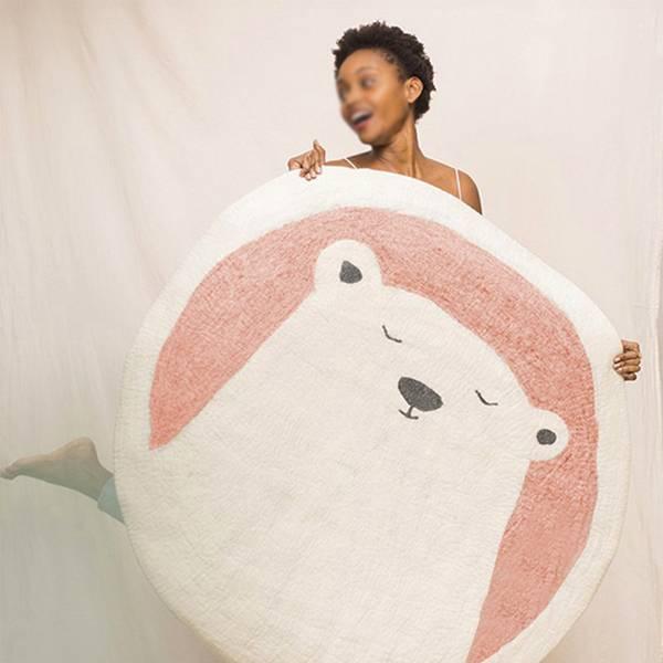 童話風羊絨圓毯 大號 PlayByPlay,玩生活,居家,客廳,臥室,玄關,北歐風,童話,卡通,地毯,地墊,踏墊,羔羊絨,保暖,舒適
