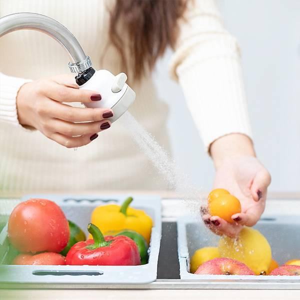 三段式防濺花灑 居家,廚房,水龍頭,花灑,三種出水模式,一鍵切換,自由調節,不鏽鋼,出水細緻,不噴濺,省水,旋轉自如,長款附軟管
