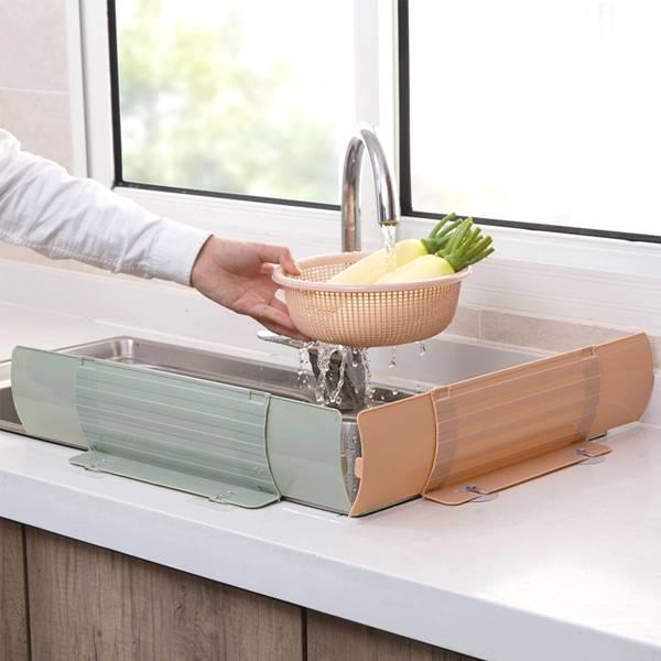 水槽伸縮擋水板 PlayByPlay,玩生活,居家,廚房,水槽,烹飪,洗碗,洗菜,可伸縮,展開,防水外濺,擋油煙,可拆式,清洗方便