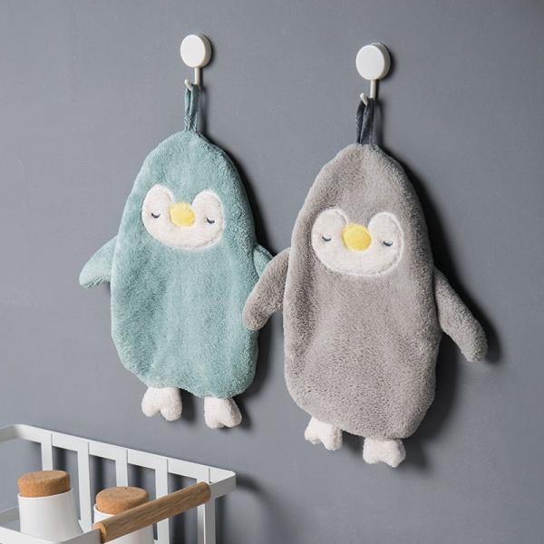 企鵝吸水擦手毛巾 PlayByPlay,玩生活,企鵝,兒童,擦手,洗手,療癒,珊瑚絨