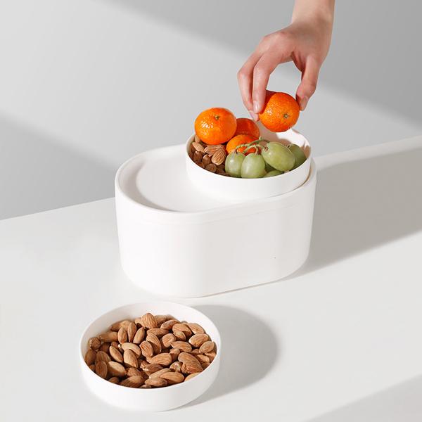 創意雙用零食桶 PlayByPlay,玩生活,居家,客廳,臥室,收納桶,收納盒,置物桶,置物盒,垃圾桶,零食桶,零食盤,水果盤,糖果盤