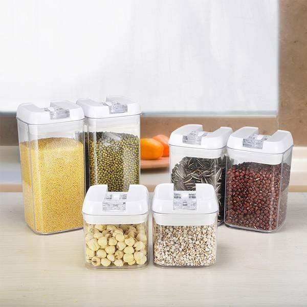 透明保鮮易扣罐(6入) PlayByPlay,玩生活,居家,廚房,餐廚,烹飪,儲物,收納罐,保鮮罐,收納盒,保鮮盒,五穀雜糧,乾貨,奶粉,食品