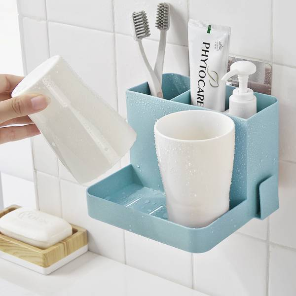 浴室雙人洗漱組 PlayByPlay,玩生活,收納,沐浴乳,牙膏,沐浴球,牙刷,牙杯