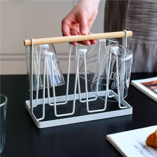 北歐風白鐵杯架 PlayByPlay,玩生活,北歐風,白鐵,杯架,瀝水,廚房,掛