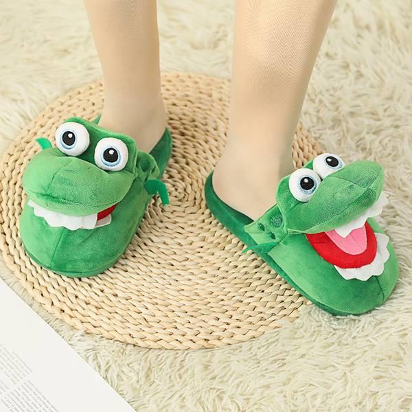 毛絨鱷魚拖鞋 PlayByPlay,玩生活,居家,拖鞋,室內拖,鱷魚拖鞋,張嘴小鱷魚棉拖鞋,韓版棉拖鞋,新款,秋冬季,卡通,抖音