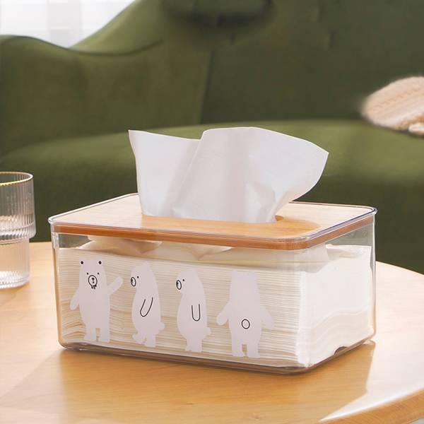 北極熊透明紙巾盒 PlayByPlay,玩生活,居家,紙巾盒,收納盒,透明盒,面紙盒,衛生紙盒,北極熊,卡通,童趣,桌面收納