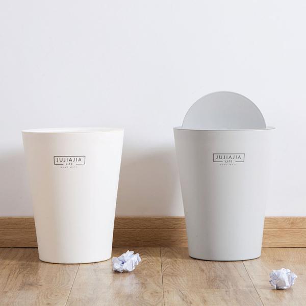 日系極簡垃圾桶 PlayByPlay,玩生活,PP材質,簡約,垃圾桶,有蓋無蓋,壓圈設計,搖蓋設計