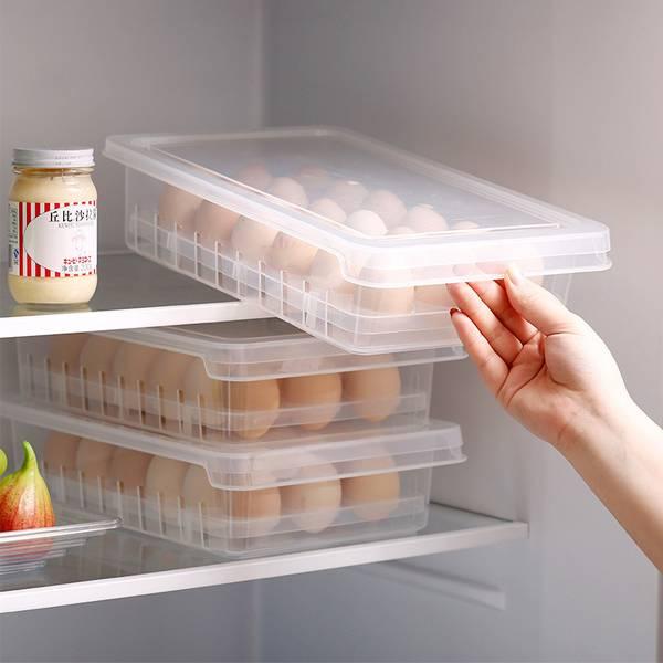 可疊加雞蛋收納盒 PlayByPlay,玩生活,居家,廚房,烹飪,料理,冰箱,雞蛋,鴨蛋,皮蛋,收納盒,保鮮盒,置物盒,儲物盒,省空間,冷藏,通風,透氣,可疊加