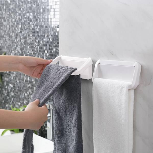免打孔毛巾架 PlayByPlay,玩生活,室內,收納,ABS,簡約,低調,折疊,浴室,牆面,廚房,桌面,玄關,背膠,黏貼,免釘,免鑽,毛巾,拖鞋,雨傘,抹布,手套
