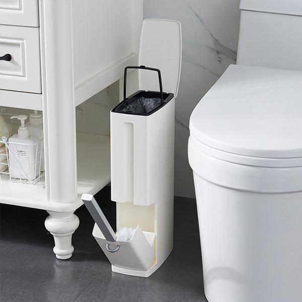 二合一浴廁清潔組 PlayByPlay,玩生活,居家,浴室,廁所,垃圾桶,馬桶刷,二合一,省空間,垃圾袋,可拆式,紙巾,收納,角落,縫隙,美觀,實用,多功能