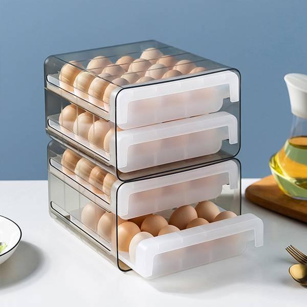 抽屜式雞蛋收納盒 PlayByPlay,玩生活,居家,廚房,冰箱,保鮮盒,保鮮容器,雞蛋盒,裝蛋盒,雞蛋托,收納盒,儲物盒,置物盒,抽屜式,可堆疊收納,通風,透氣,抗菌,保鮮