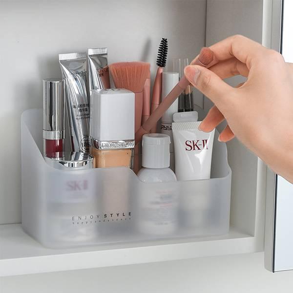 鏡櫃化妝品收納盒 PlayByPlay,玩生活,居家,鏡櫃,櫥櫃,化妝台,霧面磨砂,簡約時尚,厚實,耐用,化妝品,分類收納,分隔盒,可自由移動,整齊方便