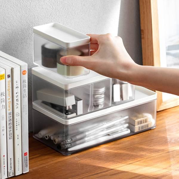 密封防塵收納盒  PlayByPlay,玩生活,居家,檯面,桌面收納,收納盒,置物盒,儲物盒,密封,防塵,防蟲,可疊加,省空間,分格,分類收納
