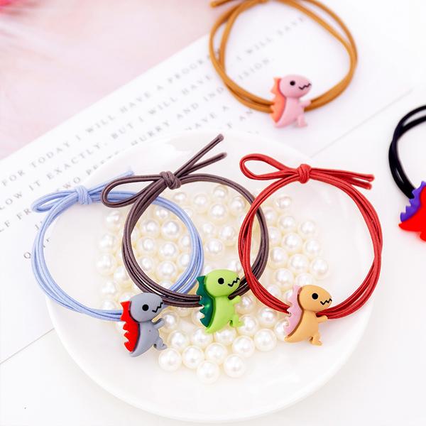 小恐龍手作髮圈 PlayByPlay,玩生活,居家,外出,髮圈,手環,彈性,綁頭髮,糖果色,少女,可愛,彩色,鮮豔,恐龍,搶眼