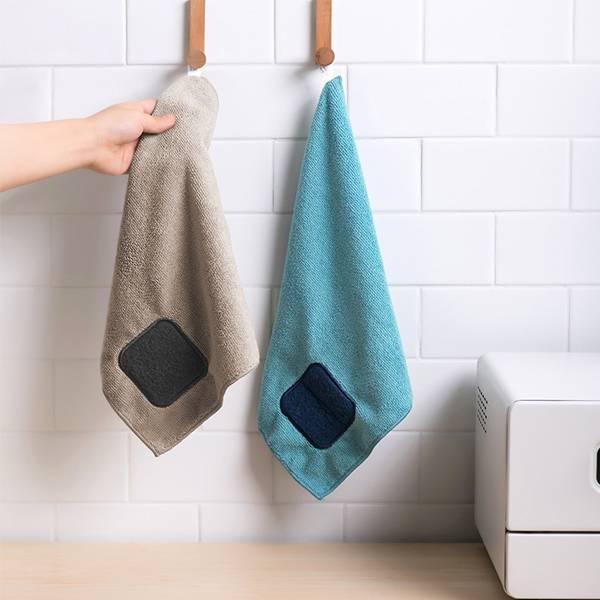 掛式百潔洗碗巾 PlayByPlay,玩生活,居家,廚房,餐桌,流理台,洗碗巾,超細纖維,百潔布,吸水,除鏽,去污,吊掛,通風