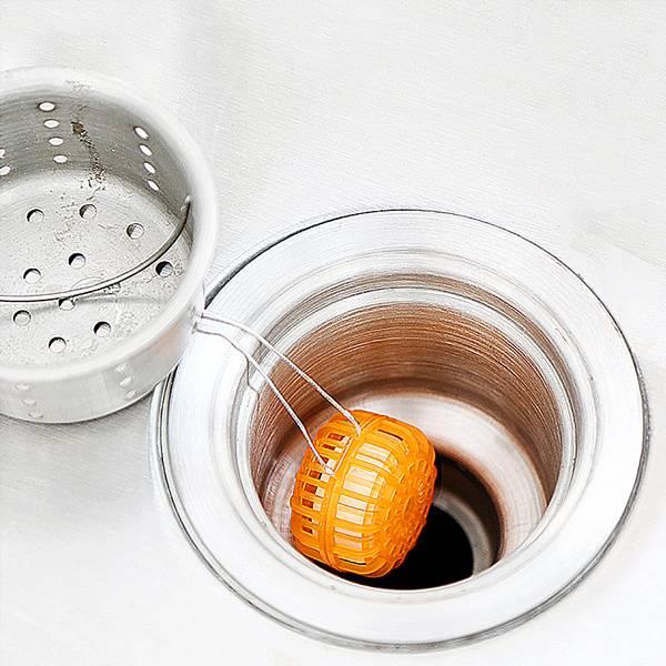 廚房水槽去污球 PlayByPlay,玩生活,居家,廚房,水槽,瀝水藍,去污,除臭,除蟲,防堵塞,果橙香,清新