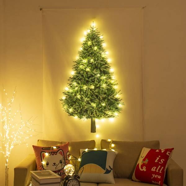 歡慶聖誕裝飾套組 PlayByPlay,玩生活,居家,室內,家飾,聖誕節,耶誕節,聖誕樹,氛圍,布置,掛布,絨毛,柔軟,數碼印染,鮮豔,不褪色,LED燈,雪花,飾片,別針