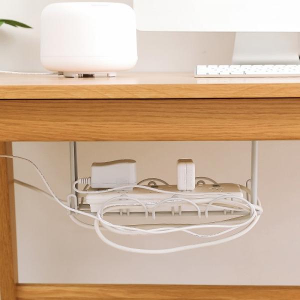 桌底延長電線置物架 PlayByPlay,玩生活,ABS,背膠黏貼,桌下,收納,線路,方便,電線,雜亂