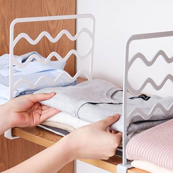 衣櫃分隔板(2入) PlayByPlay,玩生活,居家,衣櫃,櫃子,PP材質,衣物收納,雜物收納,夾扣式,分類,整齊有序,領帶,圍巾,吊掛