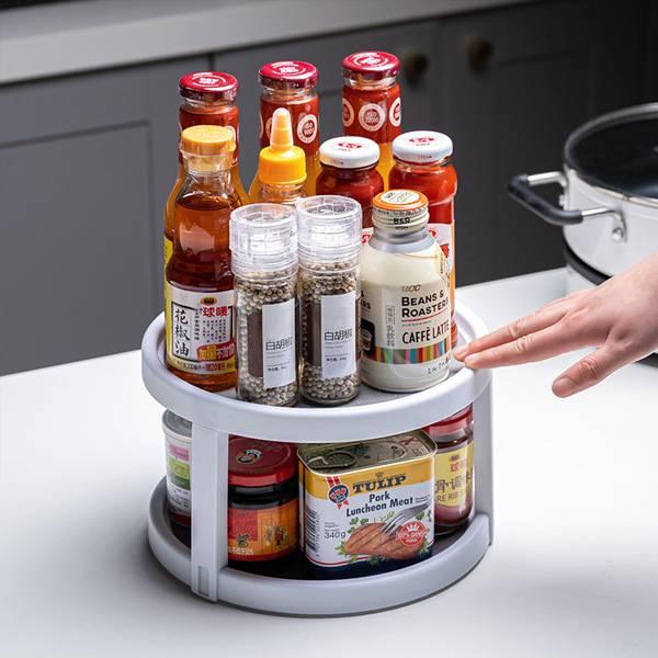 360°旋轉置物架  PlayByPlay,玩生活,居家,廚房,置物架,收納架,收納,置物,調味料,食品,瓶,罐,旋轉,整齊,美觀