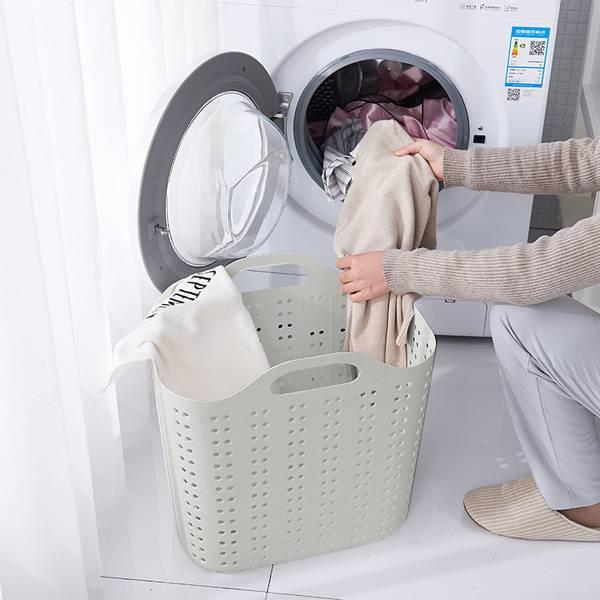 極簡灰透氣髒衣籃 小號 PlayByPlay,玩生活,居家,臥室,廚房,陽台,洗衣,曬衣,晾曬,髒衣籃,置物籃,收納籃,儲物籃,提籃,換洗衣物,雜物,玩具,蔬果