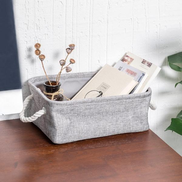 亞麻帆布收納箱 (小) 亞麻,帆布,收納,箱,提把,簡約,設計,袋