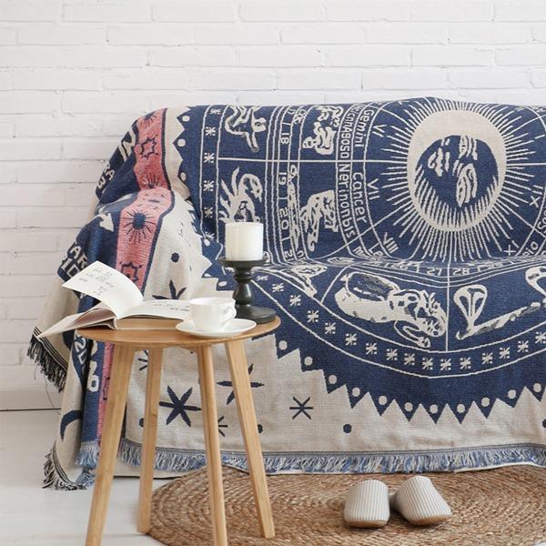 北歐星盤沙發毯(90x150) PlayByPlay,玩生活,居家,沙發毯,地毯,星空圖,環保印染,鮮豔,不褪色,優質混紡,手工,針織,舒適柔軟,用途廣泛