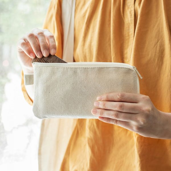 日系棉麻隨身包 #棉麻#收納#雜物#小物#化妝包#筆袋#文具日系