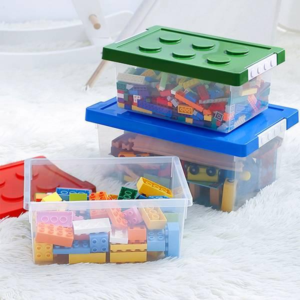 樂高風收納盒 大號 PlayByPlay,玩生活,居家,臥室,客廳,浴室,廚房,書房,櫃,架,收納,置物,儲物,儲藏,盒,箱,塑膠,樂高,積木,童趣,可愛,堆疊,組合,省空間,玩具整理,兒童整理,多功能收納