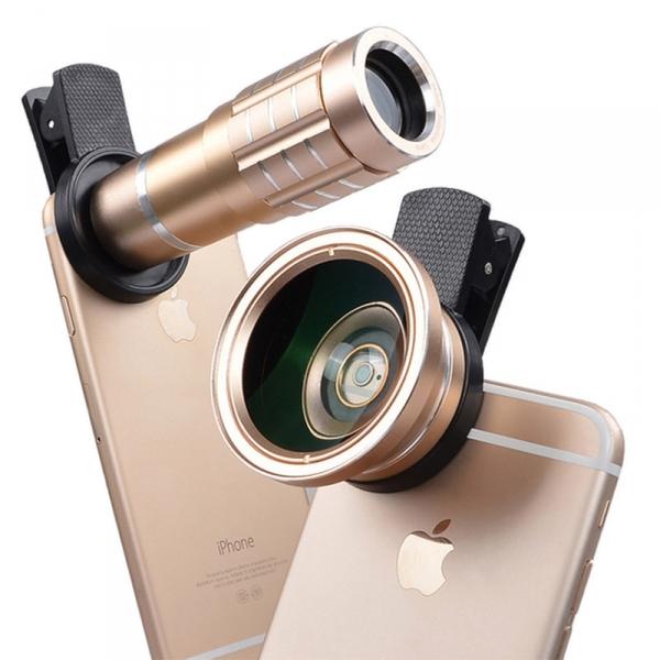 夾盤式3合1手機鏡頭組 3合1,鏡頭組,手機,廣角,微距,攝影