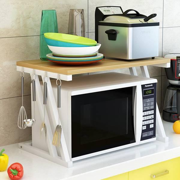 雙層微波爐置物架 PlayByPlay,玩生活,居家,廚房,微波爐,烤箱,收納架,置物架,層架,掛架,掛勾,DIY組裝,微波爐置物架,雙層置物架