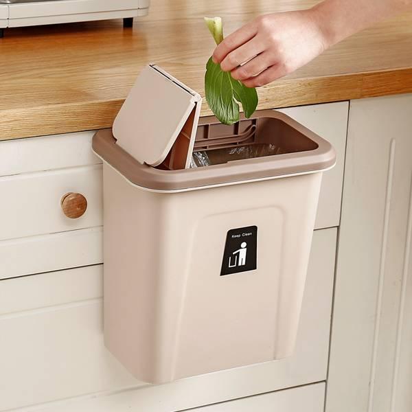 廚房推蓋垃圾桶 居家,廚房,烹飪,垃圾桶,廚餘桶,櫥櫃,抽屜,掛式,順手,滑蓋,推蓋,防臭味,客廳,浴室