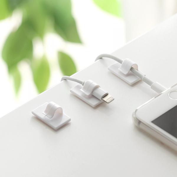 桌面線材收納器 (8個一盒) PlayByPlay,玩生活,桌面,線材,收納,器,集線,卡線,usb