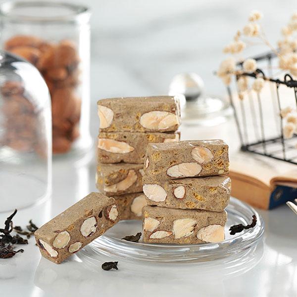 櫻桃爺爺X春一枝聯名款-紅烏龍牛軋糖100g  櫻桃爺爺,牛軋糖,手工,珍珠奶茶