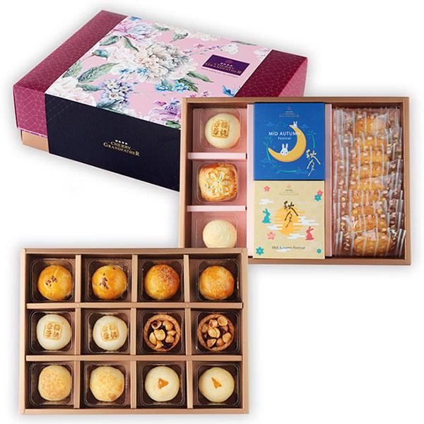 福祿禮盒(雙層)【原價1385】 中秋禮盒,櫻桃爺爺,月餅