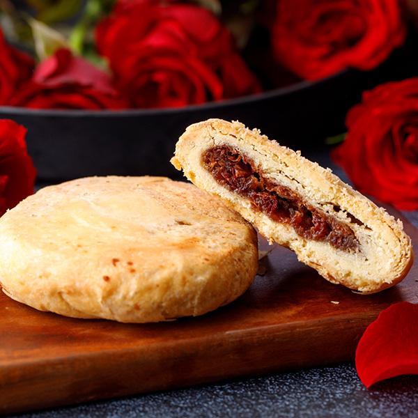 玫瑰餅5入禮盒 【原價550】 櫻桃爺爺,中式,酥餅,伴手禮,有機玫瑰餅