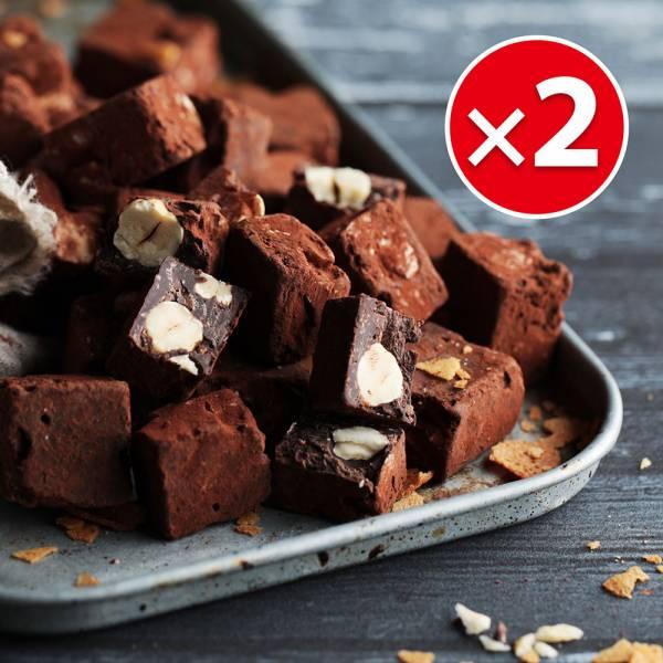 榛果巴芮脆片手工巧克力(200g)X2盒組 櫻桃爺爺,巧克力,榛果,伴手禮,聖誕節