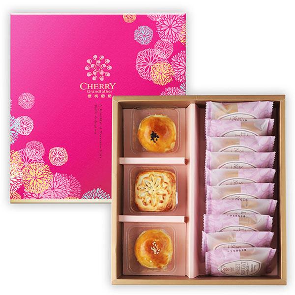 祈盼禮盒(小盒)【原價405】 中秋禮盒,櫻桃爺爺,月餅