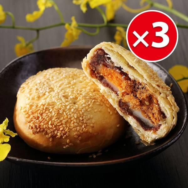三Q餅禮盒(5入)X3盒組 櫻桃爺爺,中式,Q餅,伴手禮,傳統餅