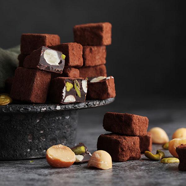 夏威夷豆開心果手工巧克力 100g