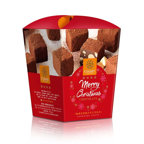[聖誕版]榛果巴芮脆片手工巧克力【原價600】 櫻桃爺爺,巧克力,榛果,伴手禮,聖誕節