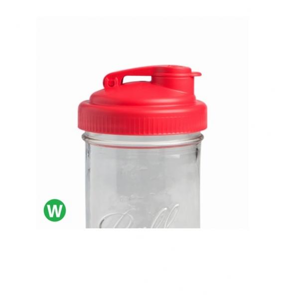 POUR-寬口紅色多功能杯蓋