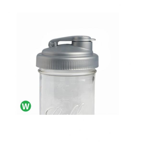 POUR-寬口銀色多功能杯蓋