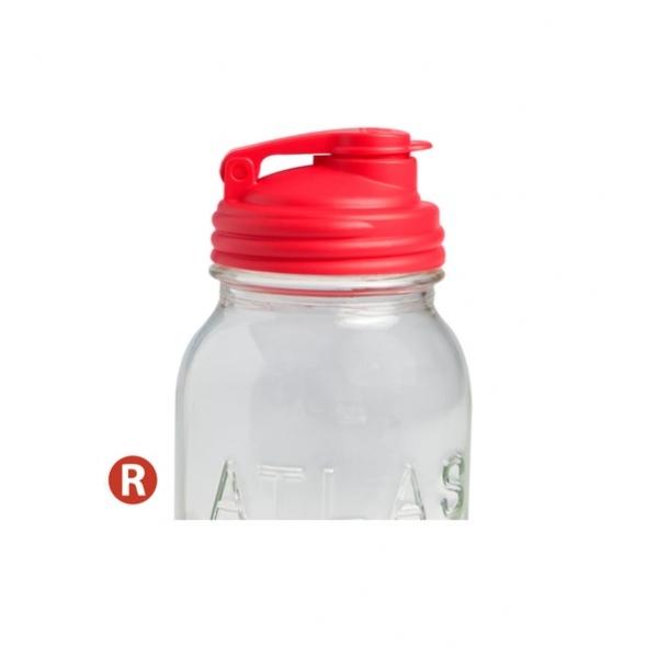 POUR-窄口紅色多功能杯蓋